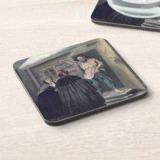 Caretaker Letting an Apartment by Vasily Perov Beverage Coasters