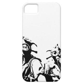 Caretas antigás en negro iPhone 5 protectores