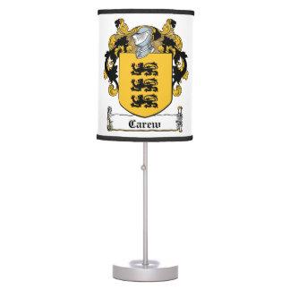 Carew Family Crest Lamps