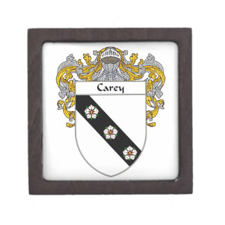 Carey Coat of Arms/Family Crest Jewelry Box