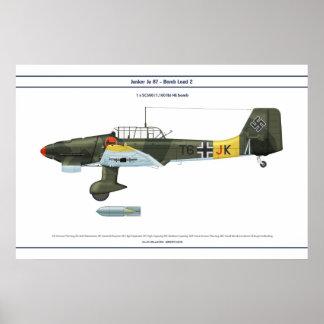 Carga 2 de Ju 87 Póster