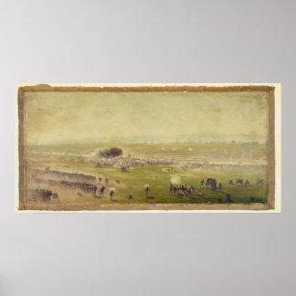 Carga americana de Picketts de la guerra civil de Impresiones