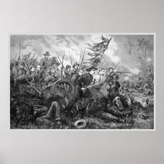 Carga de la batalla de la guerra civil póster