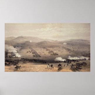 Carga de la brigada de la caballería ligera póster