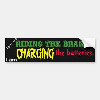 Carga de las baterías pegatina para auto