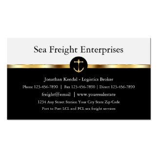 Carga de mar con clase tarjetas de visita