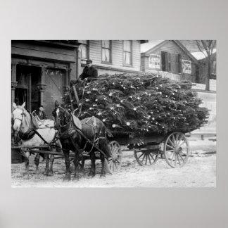Carga de Navidad Trees, 1910 Impresiones