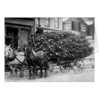 Carga de Navidad Trees, 1910 Tarjetas