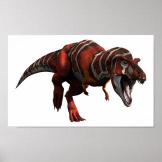 Carga de T-rex Póster
