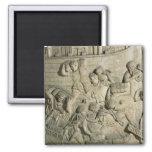 Carga de una nave, detalle del molde de Trajan Imán Cuadrado