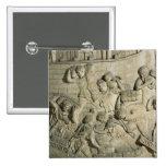 Carga de una nave, detalle del molde de Trajan Pin Cuadrado