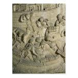 Carga de una nave, detalle del molde de Trajan Tarjetas Postales