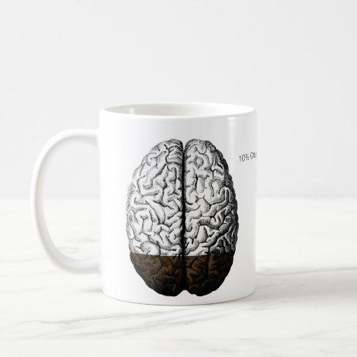 Carga del cerebro taza básica blanca