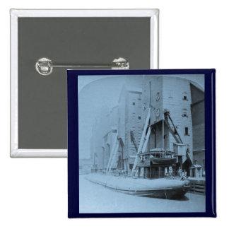 Carga del gran Whaleback, Chicago, Illinois Pin