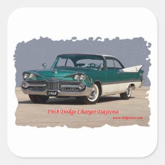 Cargador Daytona de 1968 Dodge Pegatina Cuadrada