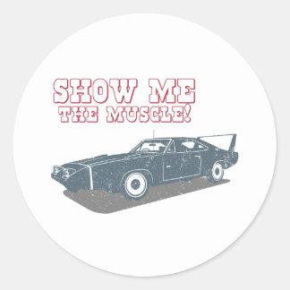 Cargador Daytona Hemi de 1970 Dodge Etiquetas Redondas