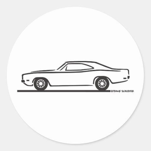 Cargador de 1969 Dodge Pegatinas Redondas