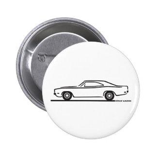 Cargador de 1969 Dodge Pin Redondo De 2 Pulgadas