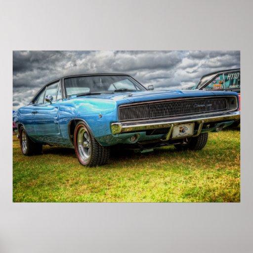 Cargador de 1970 Dodge Poster