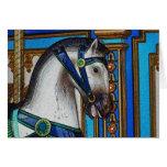 Cargador del caballo del carrusel tarjetas