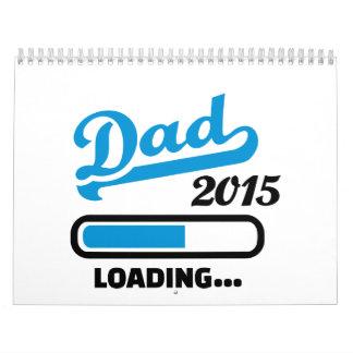 Cargamento 2015 del papá calendario de pared