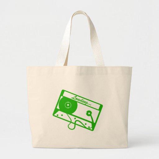 Cargamento de la cinta - videojugador, friki, vide bolsas lienzo