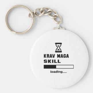Cargamento de la habilidad de Krav Maga ...... Llavero Redondo Tipo Pin