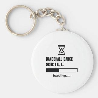 Cargamento de la habilidad de la danza de llavero redondo tipo pin