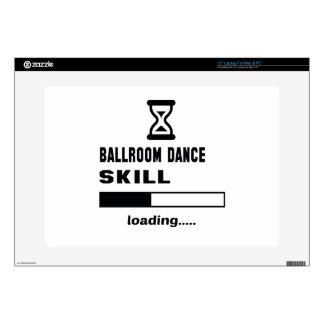 Cargamento de la habilidad de la danza de salón de portátil calcomanías