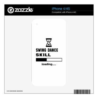 Cargamento de la habilidad de la danza del iPhone 4S calcomanías