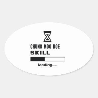 Cargamento de la habilidad de la gama del MOO de Pegatina Ovalada
