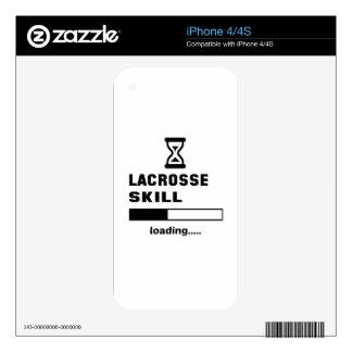 Cargamento de la habilidad de LaCrosse ...... iPhone 4 Calcomanías