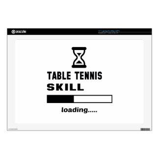 Cargamento de la habilidad de los tenis de mesa portátil calcomanías