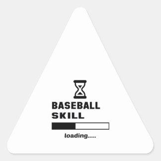 Cargamento de la habilidad del béisbol ...... pegatina triangular