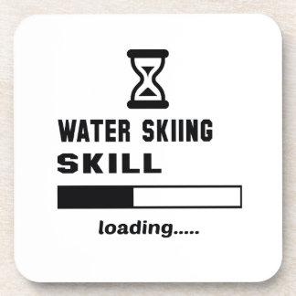 Cargamento de la habilidad del esquí acuático posavasos