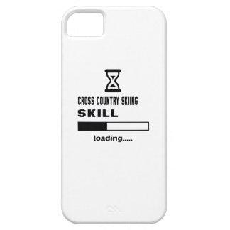 Cargamento de la habilidad del esquí del campo a iPhone 5 carcasas