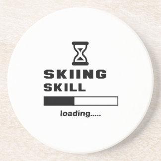 Cargamento de la habilidad del esquí ...... posavasos personalizados