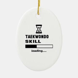 Cargamento de la habilidad del Taekwondo ...... Adorno Navideño Ovalado De Cerámica