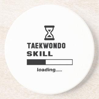 Cargamento de la habilidad del Taekwondo ...... Posavasos De Arenisca