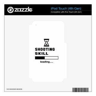 Cargamento de la habilidad del tiroteo ...... iPod touch 4G calcomanía