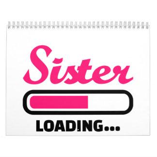 Cargamento de la hermana calendario