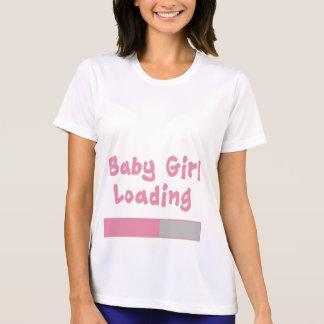 Cargamento de la niña camiseta
