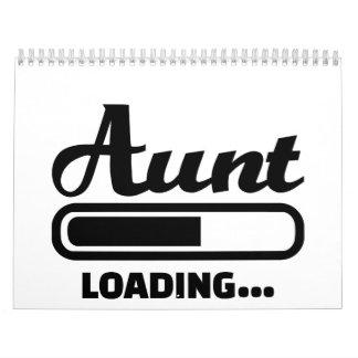 Cargamento de la tía calendario de pared