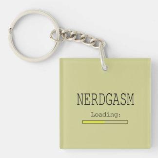 Cargamento de Nerdgasm (con la barra de los datos) Llavero Cuadrado Acrílico A Doble Cara