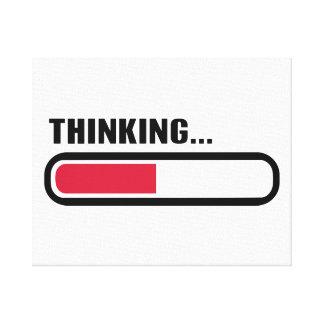 Cargamento de pensamiento lona envuelta para galerias