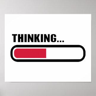 Cargamento de pensamiento póster
