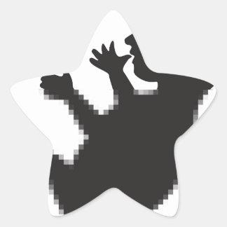 Cargamento del bebé pegatina en forma de estrella