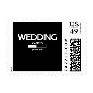 Cargamento del boda estampillas