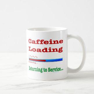 Cargamento del cafeína. … Servicio de vuelta que Taza Clásica
