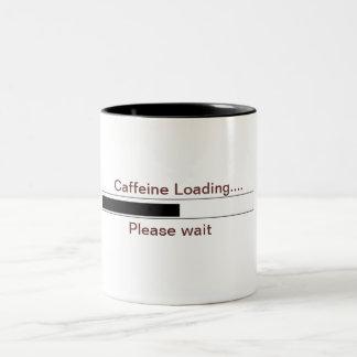 Cargamento del cafeína taza de dos tonos